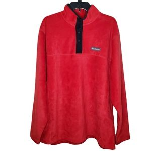 Columbia Steens Mountain Half Snap Red Jacket 1X